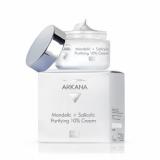 Arkana 46006 Mandelic+Salicylic Purifying10% Cream - дерматологический обновляющий крем с 8% миндальной, 2% салициловой кислотами, отшелушивает ороговевшие клетки кожи, нормализует секрецию сальных желез 50мл