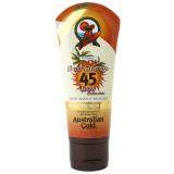 Australian GOLD Premium SPF 45 Sheer Faces w/bronzer крем лосьон для загара в солярии для лица с автозагаром 88 ml