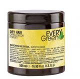 Dikson СУХИЕ волосы Маска с экстрактом сои, миндаля, масльвы и кокосового масла Dry Hair Mask Every Green ЭКО линия без SLS, без минеральных солей