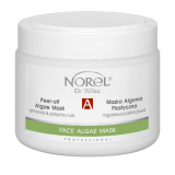 Norel PN 296 Peel-off algae mask with pistachio nuts – увлажняющая, снимающая раздражения альгинатная маска с миндалём и фисташками для сухой и комбинированной кожи 250 g