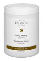 Norel PP 333 Coconut body peeling – кремовый кокосовый скраб для тела для сухой, поврежденной кожи и кожи после загара 500g