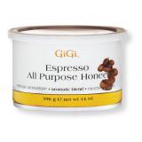 50303 GIGI Espresso All Purpose Honee 396 г - натуральный медовый воск (МНОГОЦЕЛЕВОЙ) с экстрактом кофе (0252)