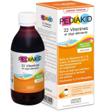PK24 PEDIAKID 250 - ПЕДИАКИД СИРОП 22 ВИТАМИНА И ОЛИГОЕЛЕМЕНТА / PEDIAKID 22 VITAMINES ET OLIGO-ELEMENTS SIROP, 250 мл