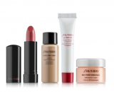 Shiseido набор в косметичке (помада-2,5 gr.+infusing concentr-5ml.+moisturiz.cream-10ml. +parfum sh/gel) 50